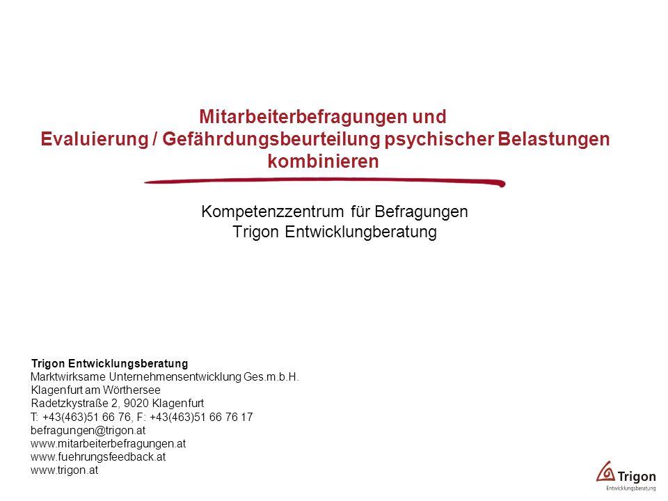 Kompetenzzentrum für Befragungen Trigon Entwicklungberatung