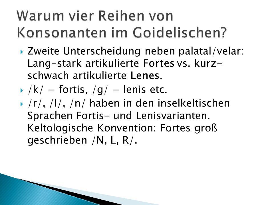 Warum vier Reihen von Konsonanten im Goidelischen