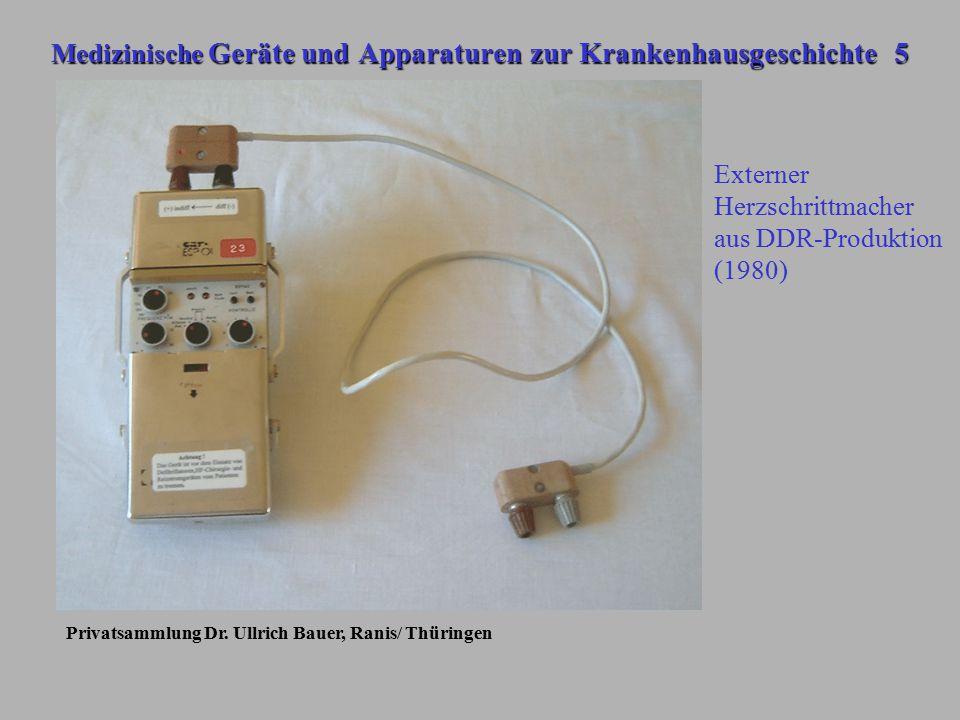 Medizinische Geräte und Apparaturen zur Krankenhausgeschichte 5