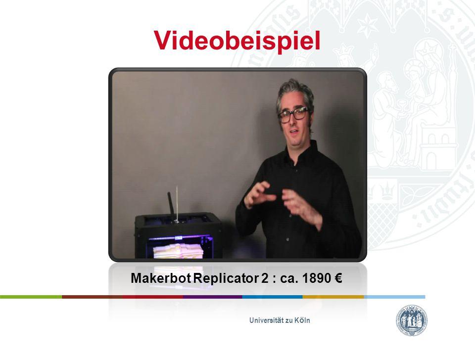 Makerbot Replicator 2 : ca. 1890 €