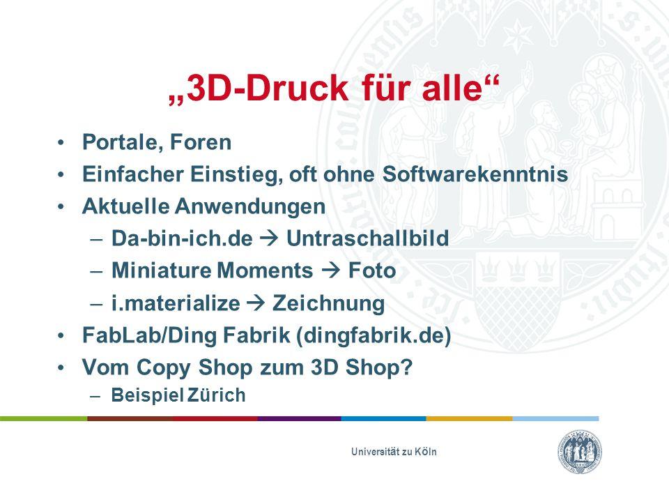 """""""3D-Druck für alle Portale, Foren"""
