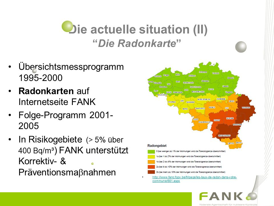 Die actuelle situation (II) Die Radonkarte