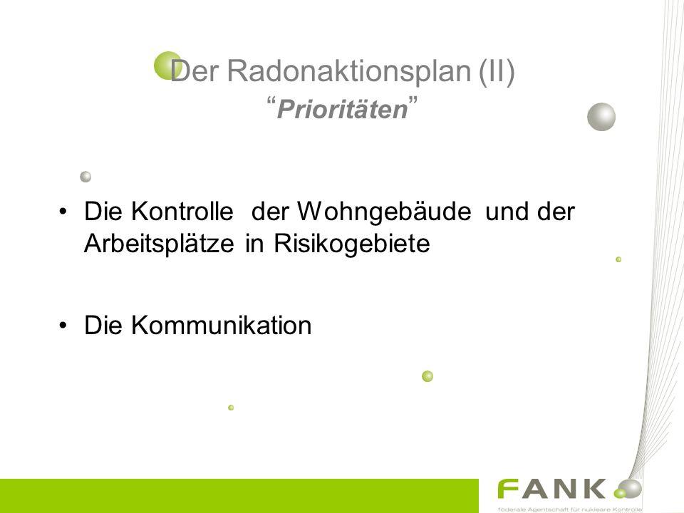 Der Radonaktionsplan (II) Prioritäten