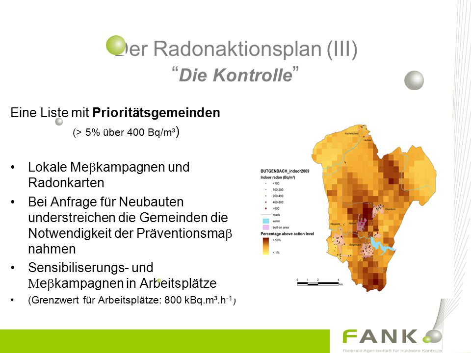 Der Radonaktionsplan (III) Die Kontrolle