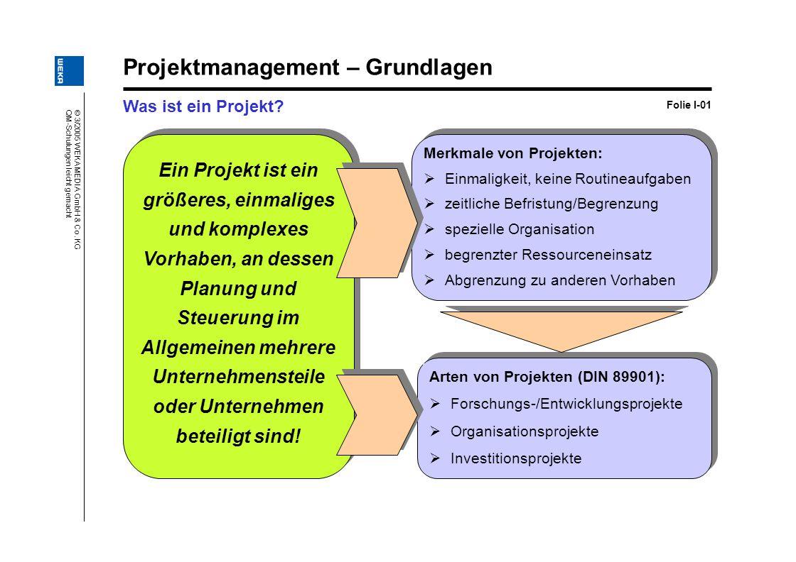 Projektmanagement – Grundlagen