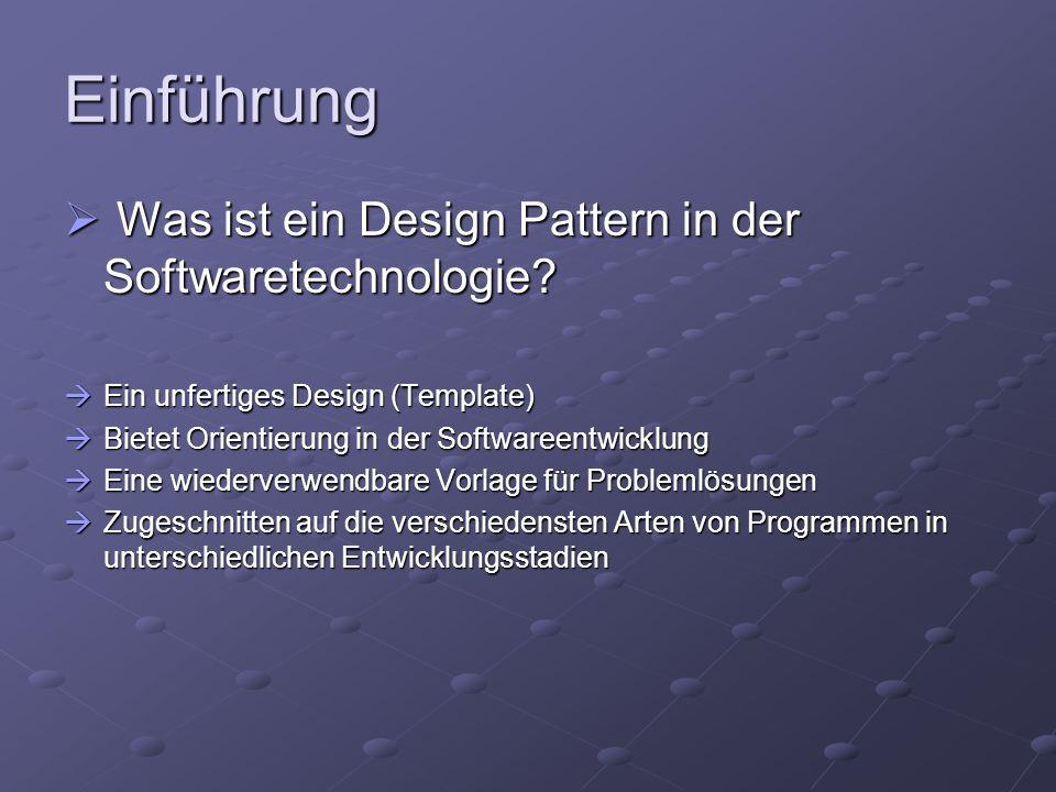 Einführung Was ist ein Design Pattern in der Softwaretechnologie