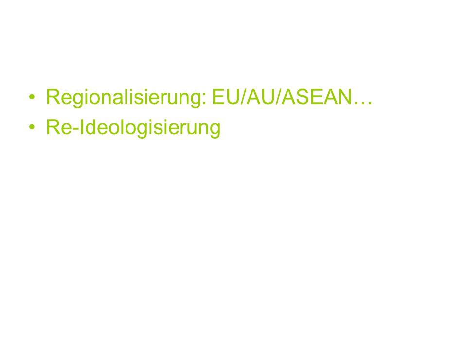 Regionalisierung: EU/AU/ASEAN…