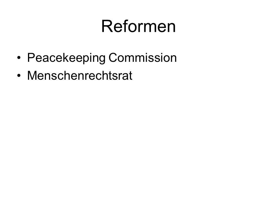 Reformen Peacekeeping Commission Menschenrechtsrat
