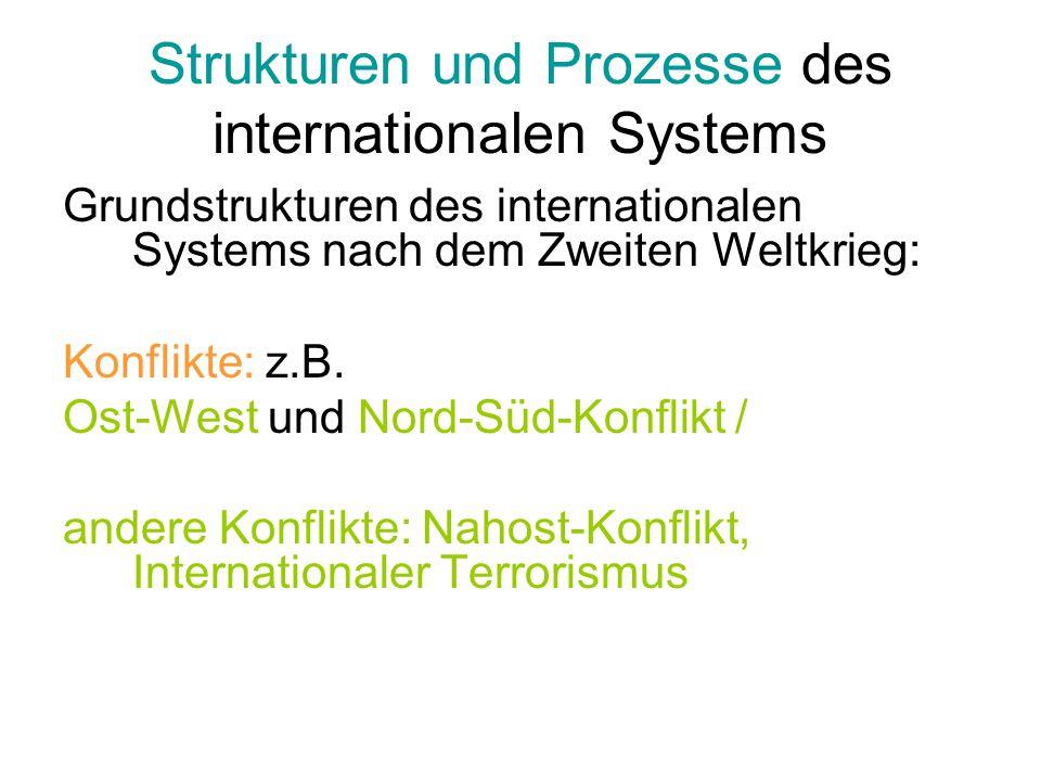 Strukturen und Prozesse des internationalen Systems