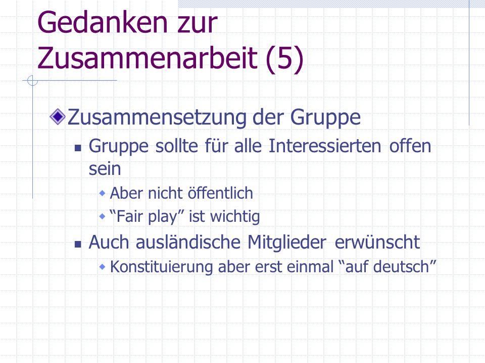 Gedanken zur Zusammenarbeit (5)