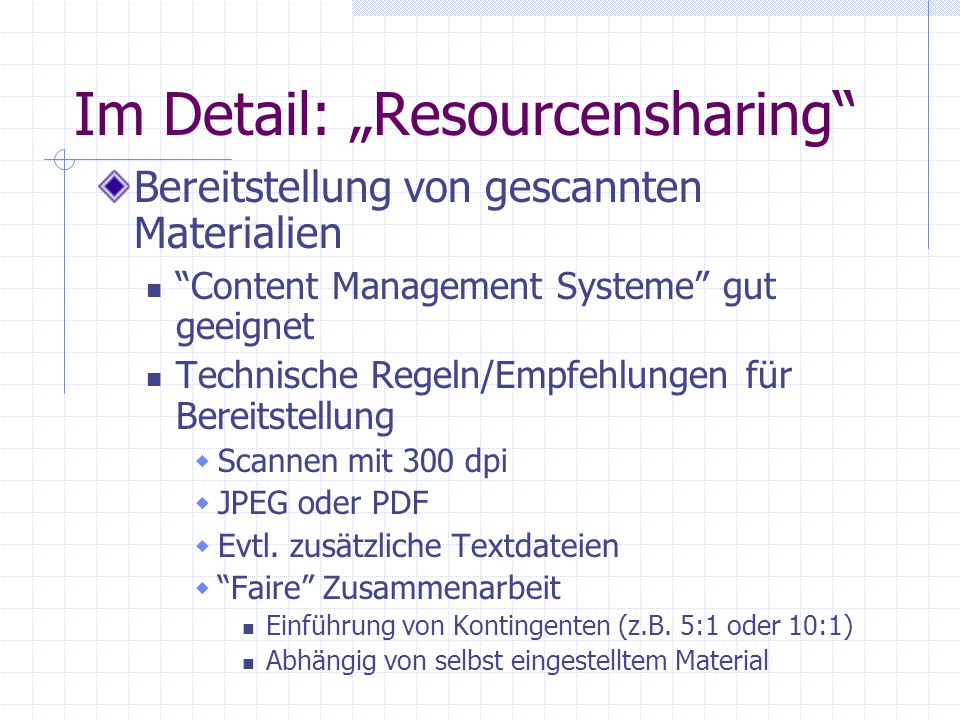 "Im Detail: ""Resourcensharing"