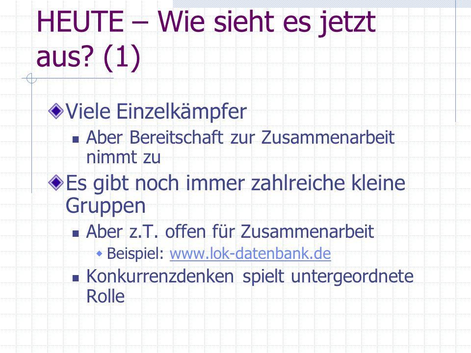 HEUTE – Wie sieht es jetzt aus (1)
