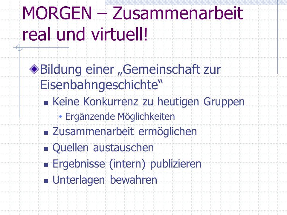 MORGEN – Zusammenarbeit real und virtuell!