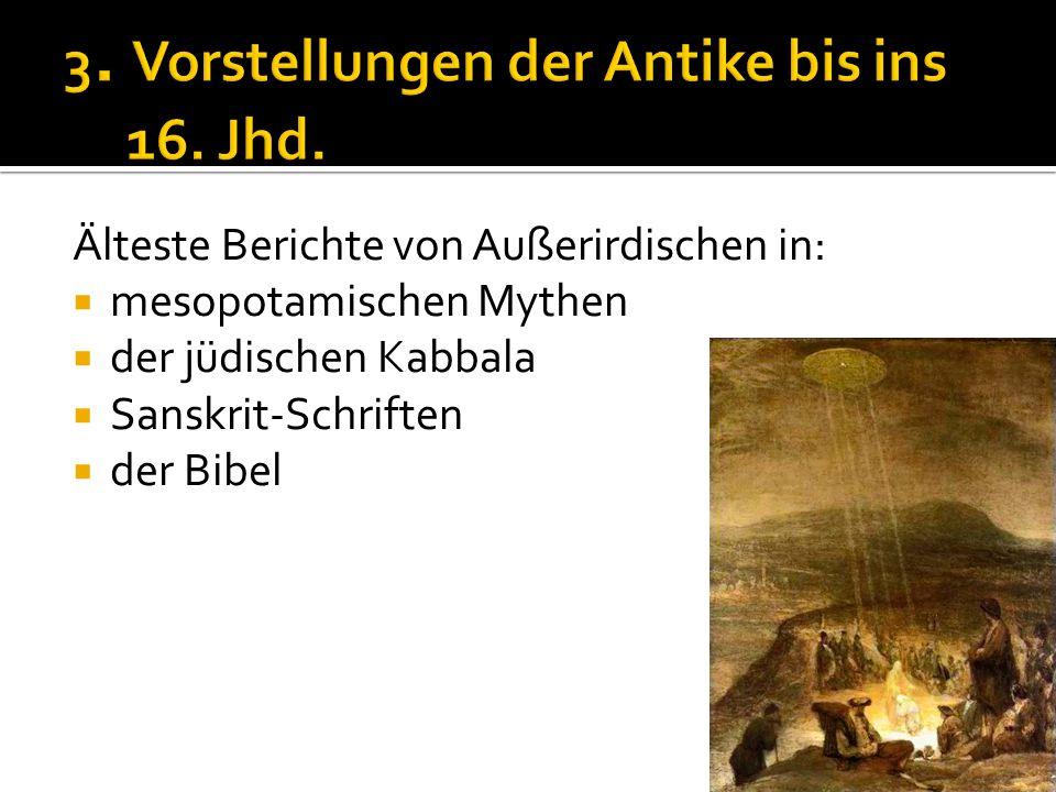 3. Vorstellungen der Antike bis ins 16. Jhd.