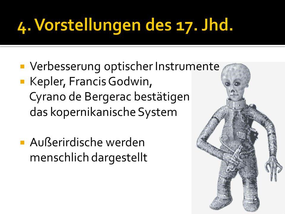 4. Vorstellungen des 17. Jhd. Verbesserung optischer Instrumente
