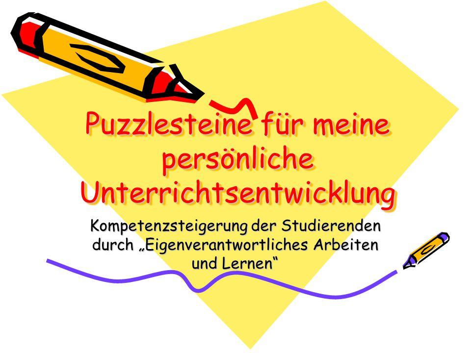 Puzzlesteine für meine persönliche Unterrichtsentwicklung