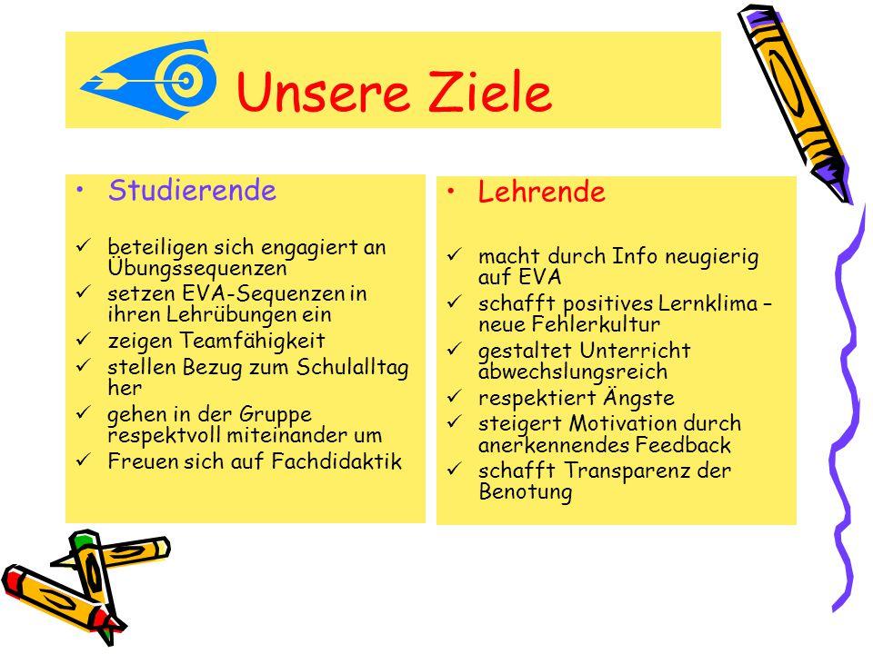 Unsere Ziele Studierende Lehrende