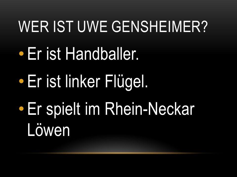 Er spielt im Rhein-Neckar Löwen