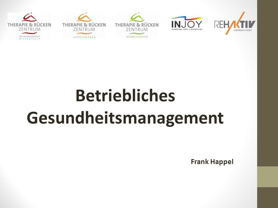 Betriebliches Gesundheitsmanagement Frank Happel