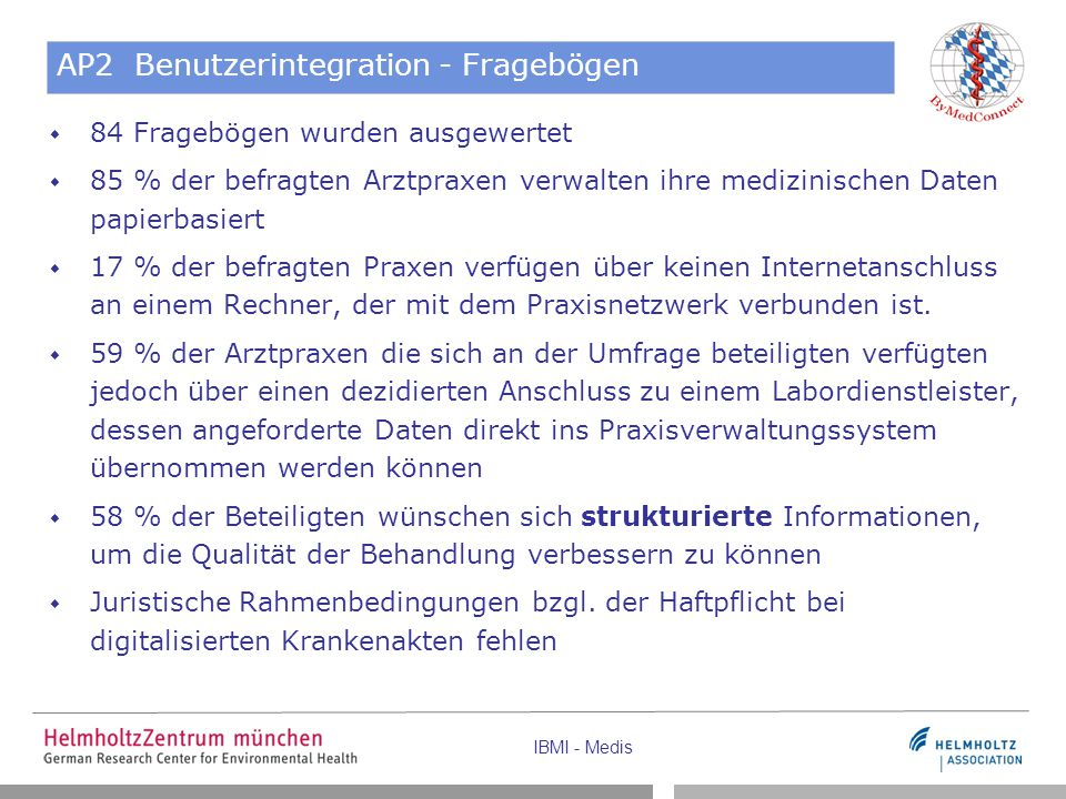 AP2 Benutzerintegration - Fragebögen
