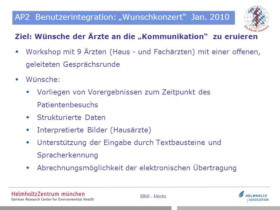 """AP2 Benutzerintegration: """"Wunschkonzert Jan. 2010"""