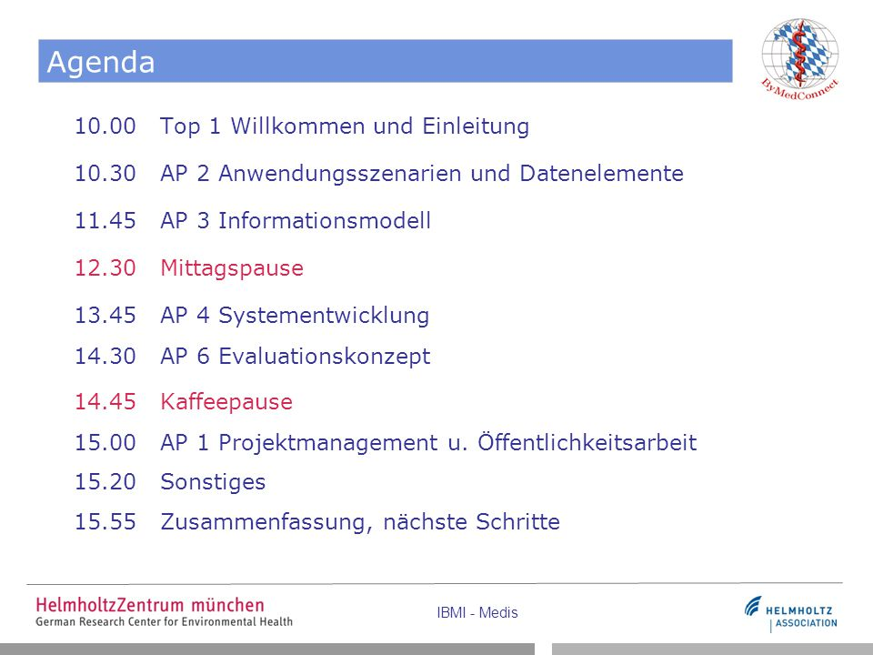 Agenda 10.00 Top 1 Willkommen und Einleitung