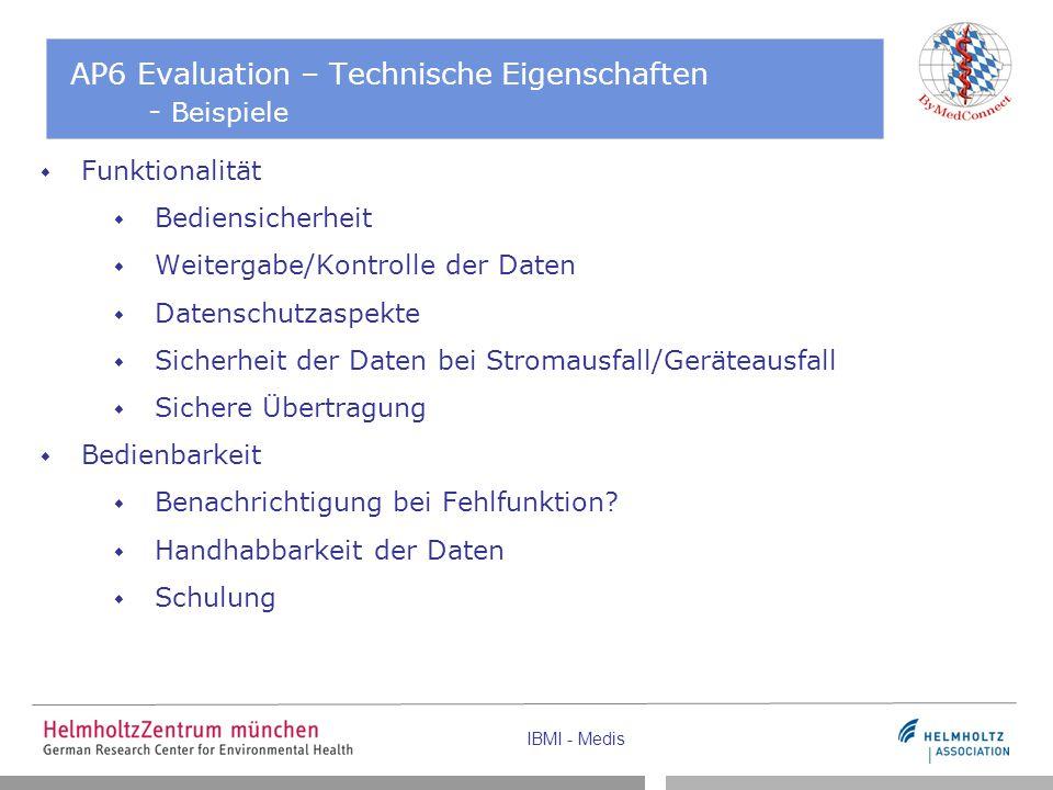 AP6 Evaluation – Technische Eigenschaften - Beispiele