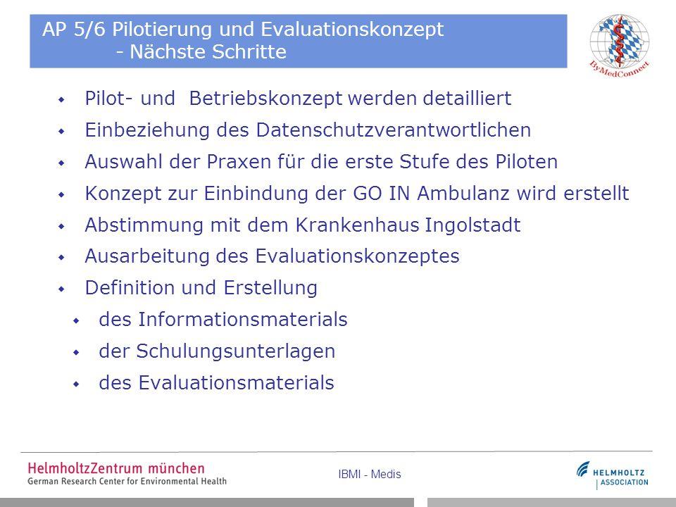AP 5/6 Pilotierung und Evaluationskonzept - Nächste Schritte