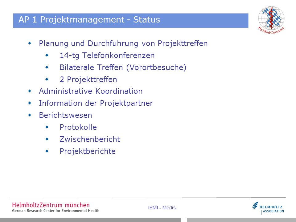 AP 1 Projektmanagement - Status