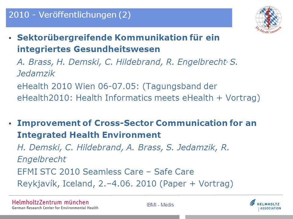 2010 - Veröffentlichungen (2)