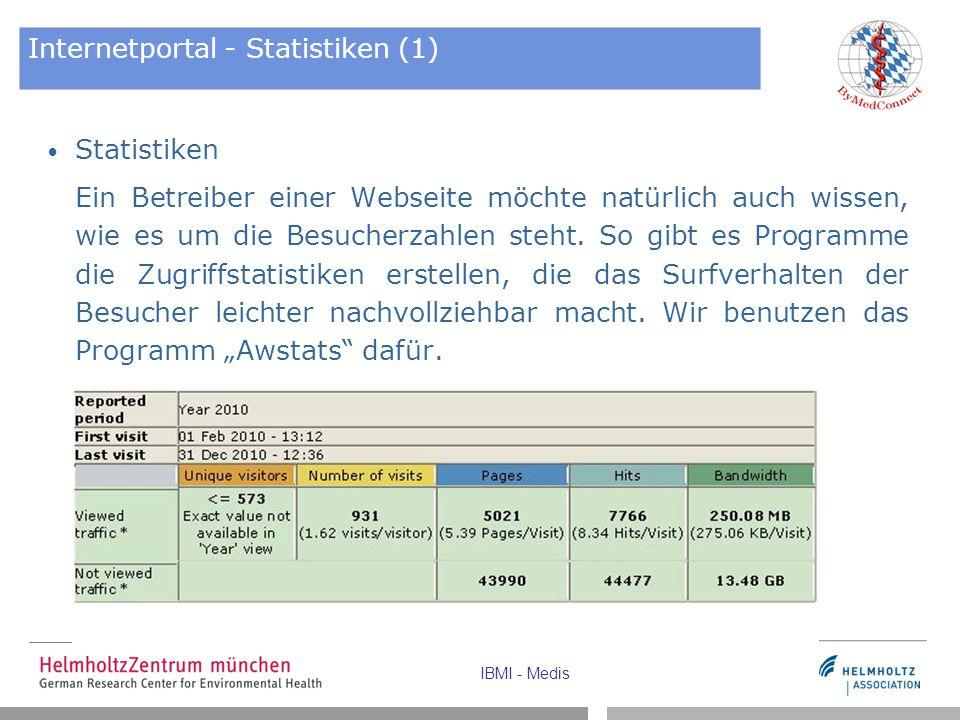 Internetportal - Statistiken (1)