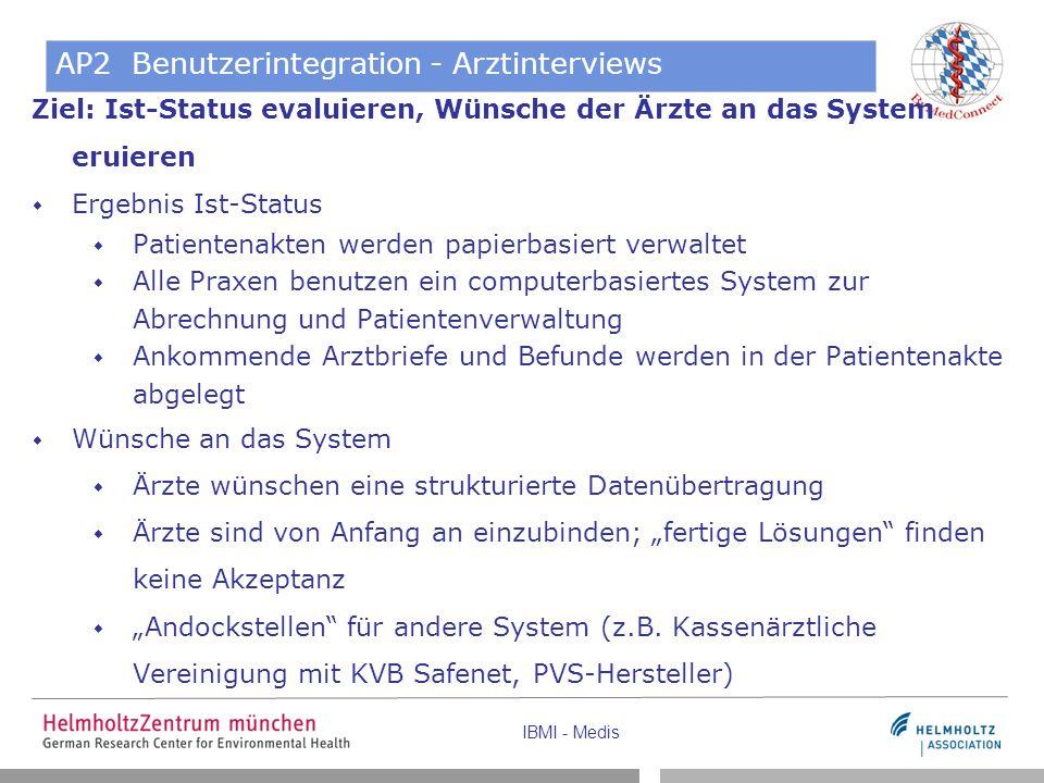 AP2 Benutzerintegration - Arztinterviews