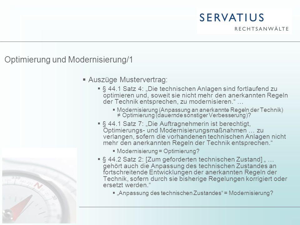Optimierung und Modernisierung/1