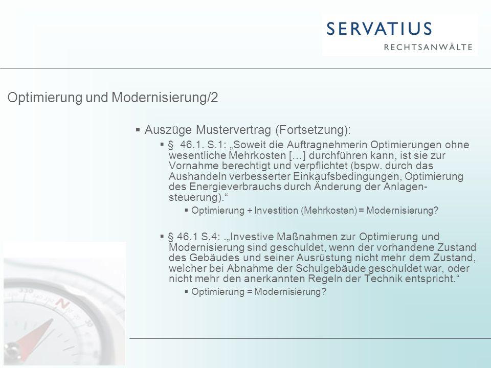 Optimierung und Modernisierung/2