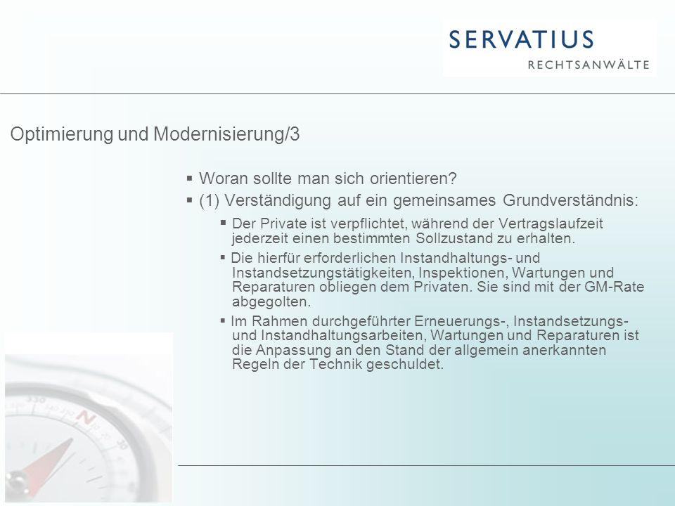 Optimierung und Modernisierung/3