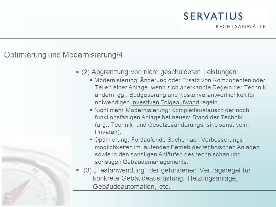 Optimierung und Modernisierung/4