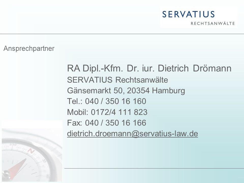 RA Dipl.-Kfm. Dr. iur. Dietrich Drömann