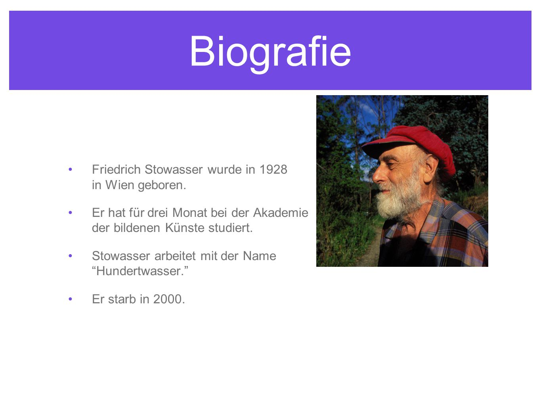 Biografie Friedrich Stowasser wurde in 1928 in Wien geboren.