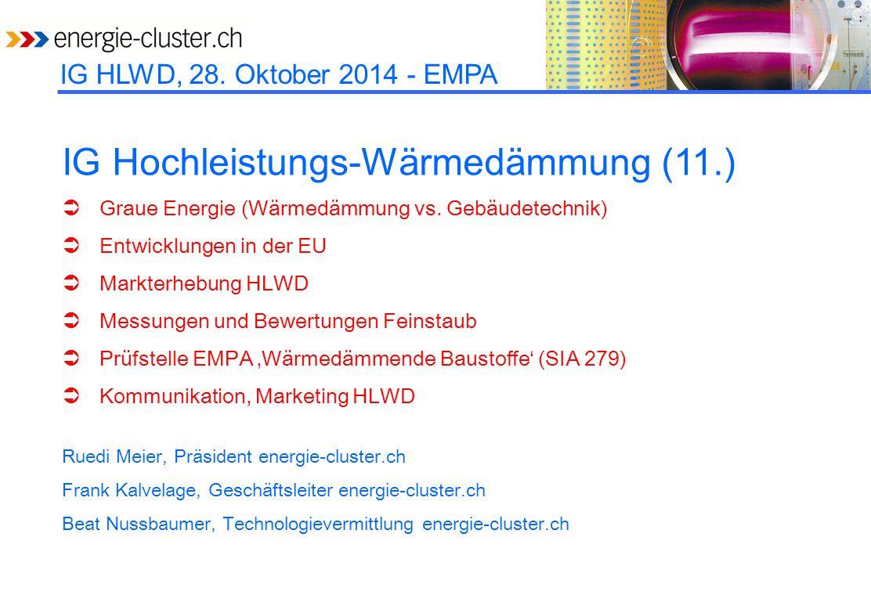 IG Hochleistungs-Wärmedämmung (11.)