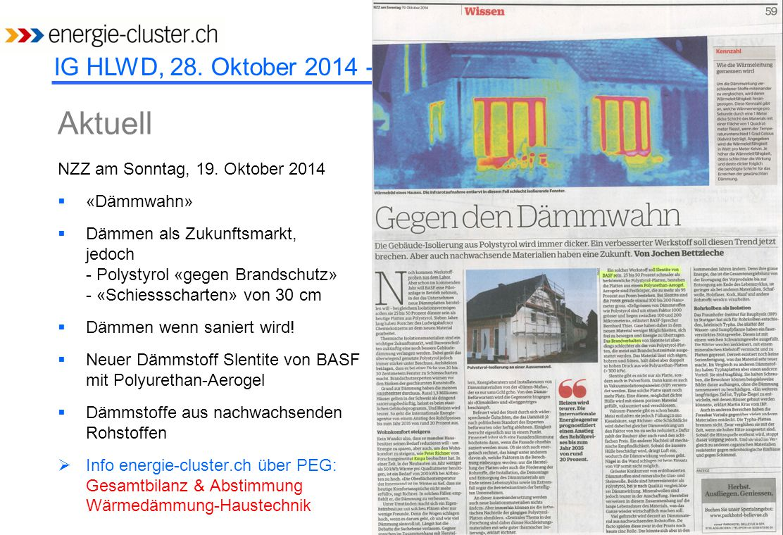 Aktuell NZZ am Sonntag, 19. Oktober 2014 «Dämmwahn»