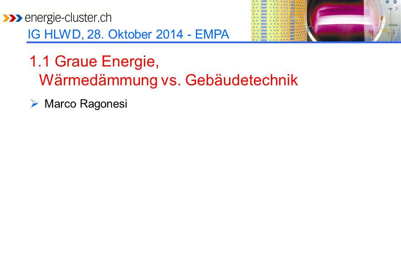 1.1 Graue Energie, Wärmedämmung vs. Gebäudetechnik