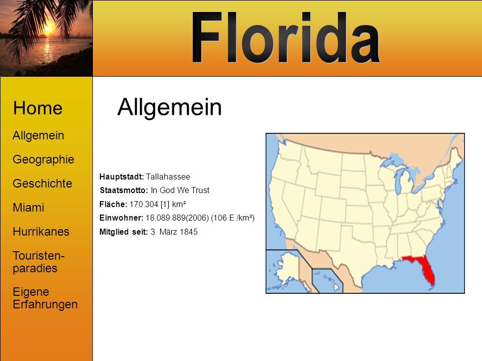Allgemein Home Allgemein Geographie Geschichte Miami Hurrikanes