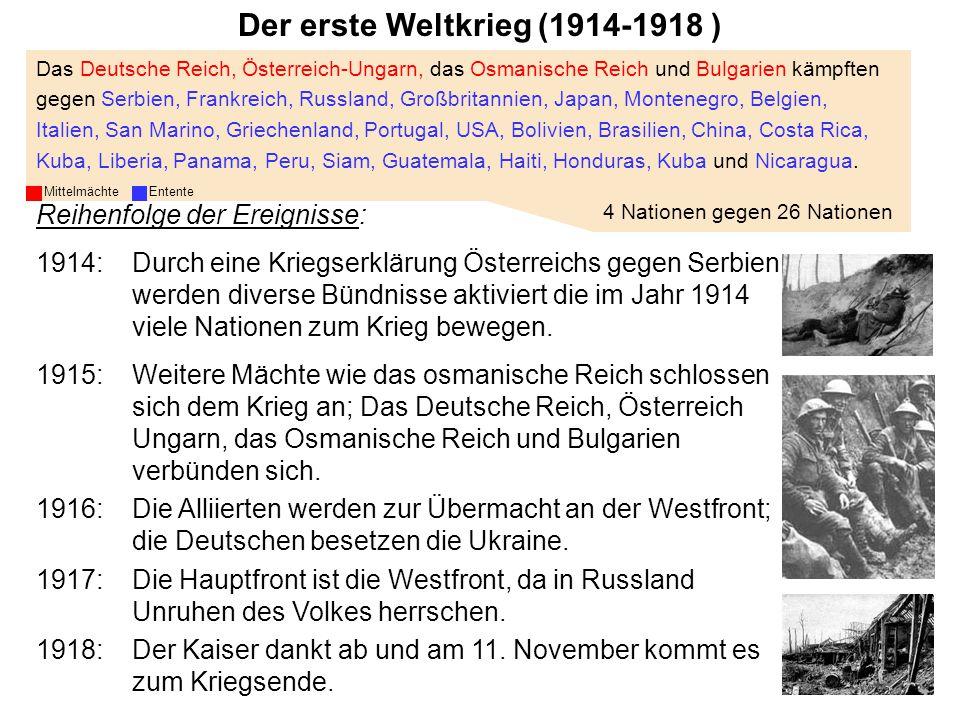 Der erste Weltkrieg (1914-1918 )