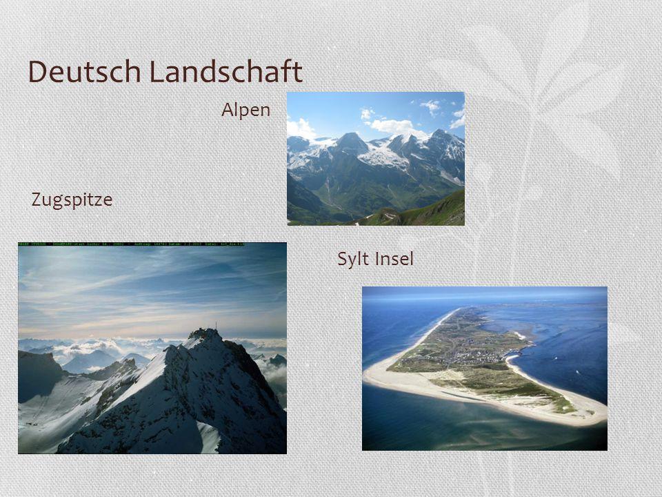 Deutsch Landschaft Alpen Zugspitze Sylt Insel