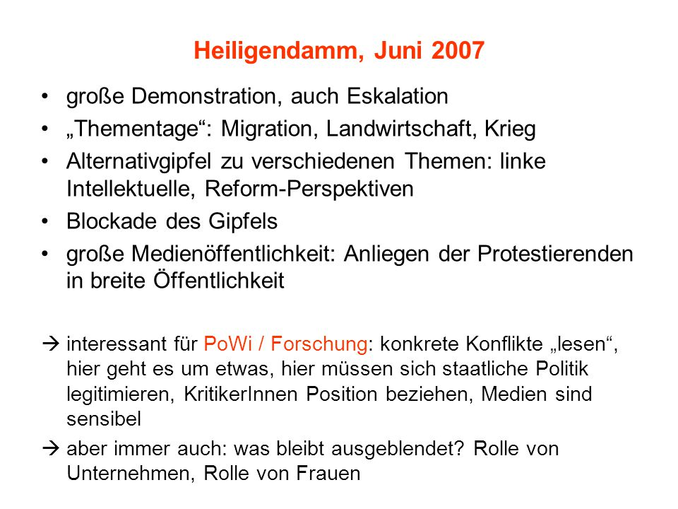 Heiligendamm, Juni 2007 große Demonstration, auch Eskalation