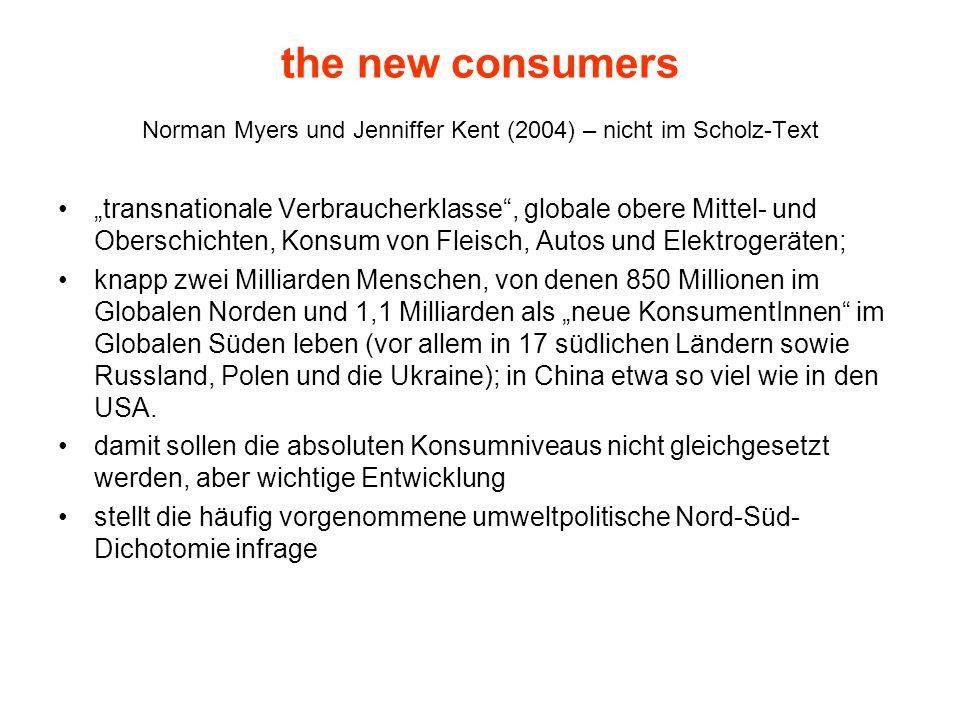 Norman Myers und Jenniffer Kent (2004) – nicht im Scholz-Text