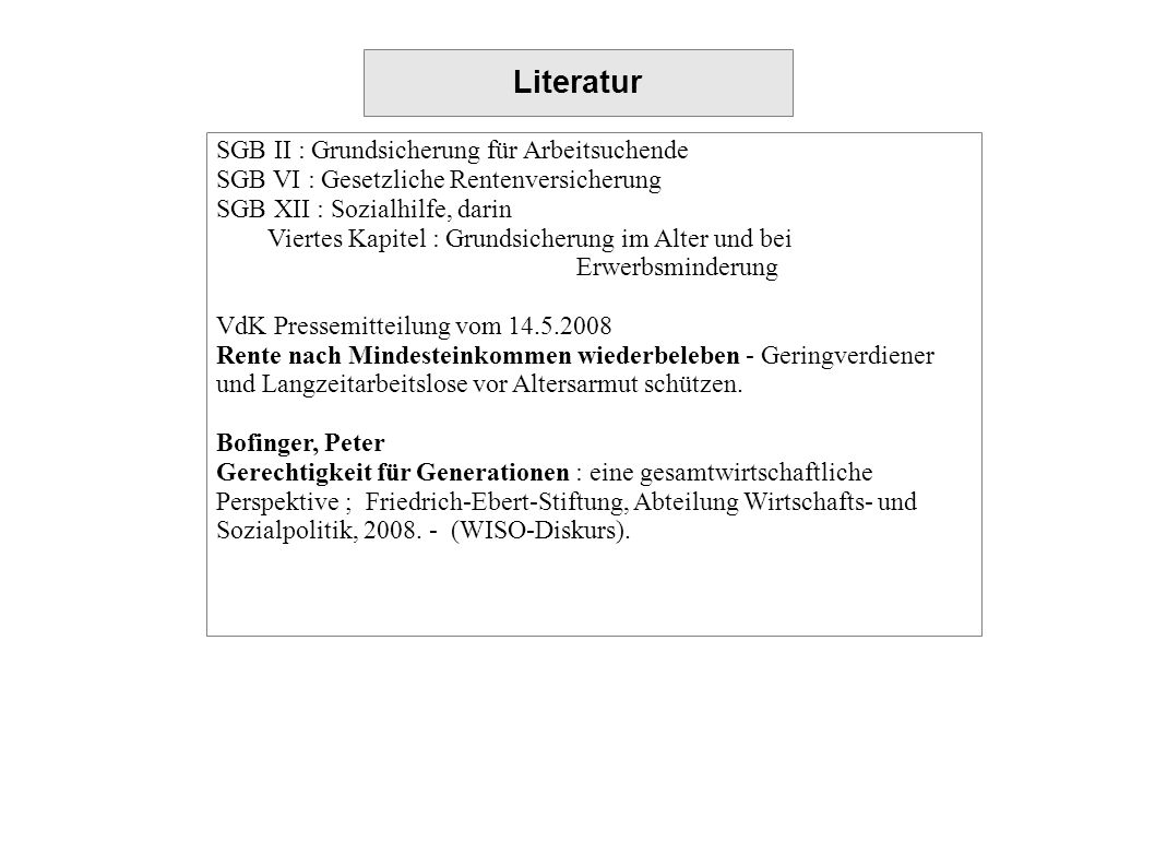 Literatur SGB II : Grundsicherung für Arbeitsuchende