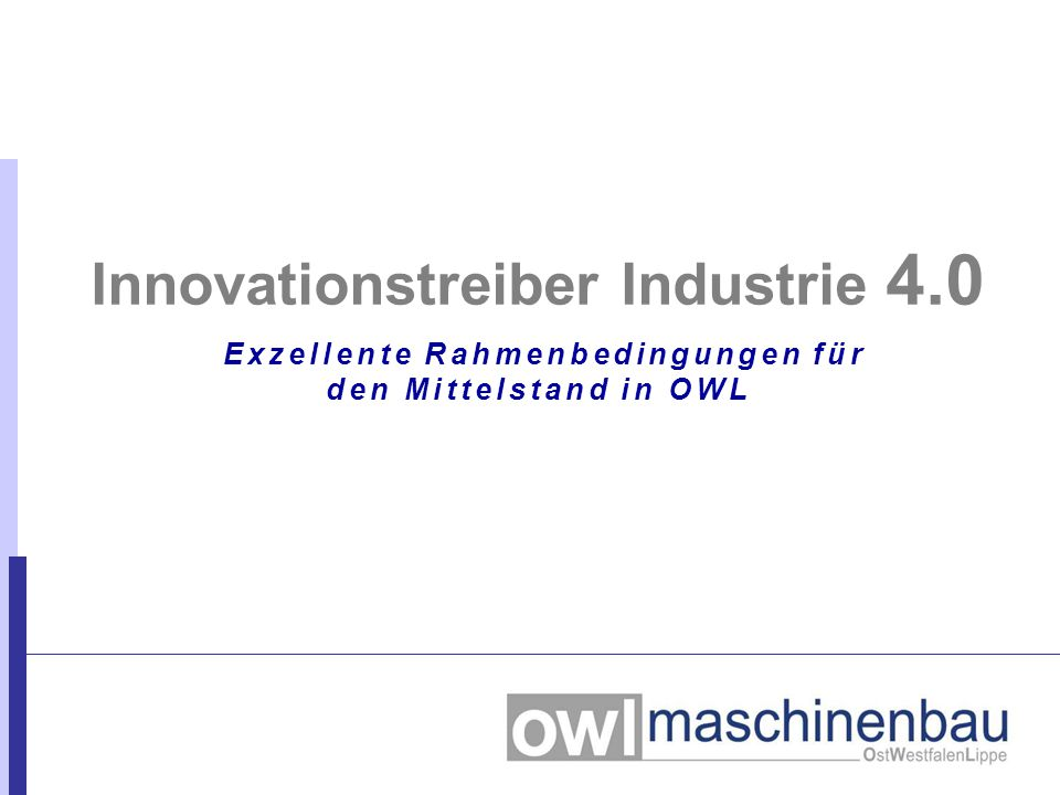Innovationstreiber Industrie 4.0