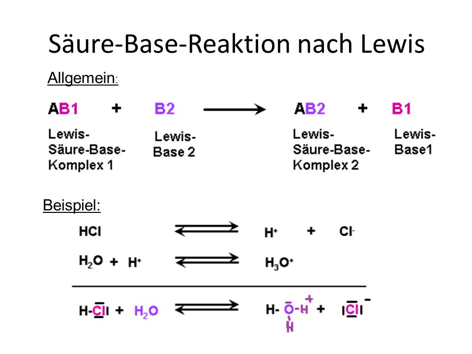 Säure-Base-Reaktion nach Lewis