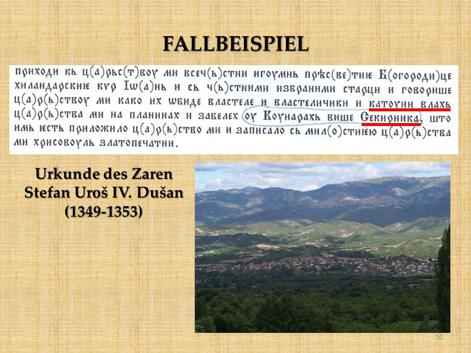 Urkunde des Zaren Stefan Uroš IV. Dušan (1349-1353)